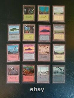 15 cards Complete set Collectors Edition CE basic lands Magic NM beta MTG