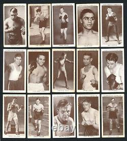 1938 Churchman Boxing Personalities COMPLETE SET 50 Cards Jack Johnson Joe Louis