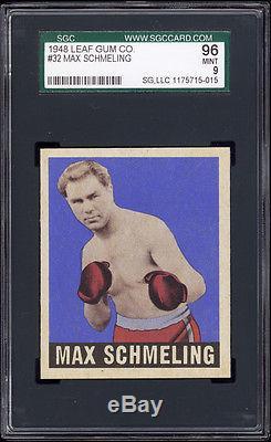 1948 Leaf Gum Co. Complete Boxing Set of 49 cards. GPA of 8.03. SGC 88+ NM-MT+