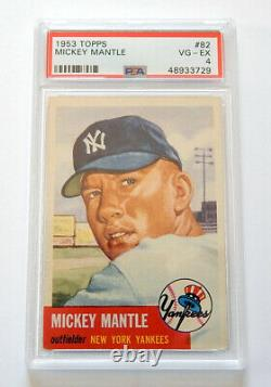 1953 Topps Baseball Complete Set (1-280) Mickey Mantle PSA 4 Willie Mays Vg/Ex