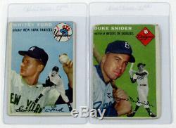 1954 Topps Baseball Complete Set (1-250) Aaron Banks Kaline