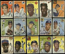 1954 Topps Baseball Complete Set 250/250 Low to Mid-Grade Aaron Kaline JC12