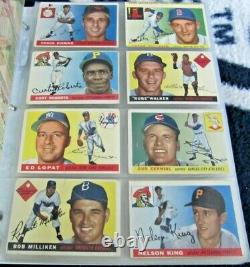 1955 Topps Baseball Near Complete Set (-17) Clemente Rc Tons Of Stars Overall Vg