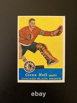 1957-58 Topps Hockey Complete Set 66 Glenn Hall RC