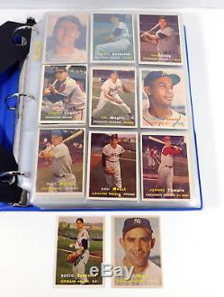 1957 Topps Baseball Near Complete Set (362/407) with Colavito Berra