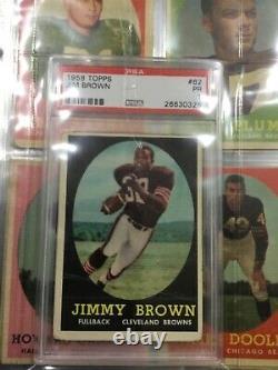 1958 topps football complete set Jim brown rc psa graded