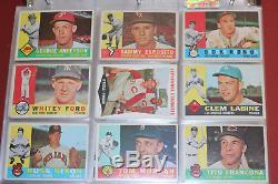 1960 TOPPS baseball card COMPLETE SET 1-572 withMickey Mantle, Yastrzmeski VG+