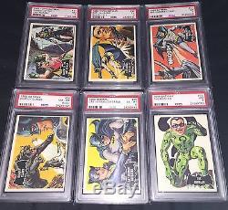 1966 Batman Black Bat Complete Set All PSA Graded Cards 1-55