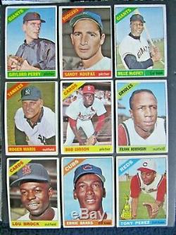 1966 Topps Baseball Complete Set Mantle Mays Clemente Overall Vg+ Tough Set