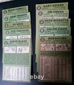 1967 TOPPS BASEBALL NEAR COMPLETE LOW # SET 464/533 MANTLE + STARS +16 HI#s EX+