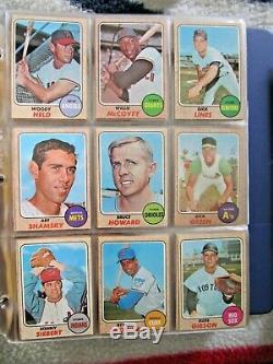 1968 Topps Baseball Near Complete Set (584/598) Ryan Mantle Bench + Stars Ex+