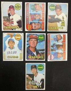 1969 Topps Baseball Complete Set Reggie Jackson Rookie / Last Mantle Card