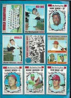 1970 Topps Baseball Complete Set (720) Ex/nm Plus (really Nice!)