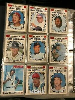 1970 Topps Baseball Complete Set Mid Range Condition in Binder & Pages