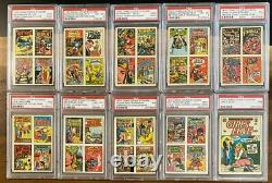 1970 Topps DC Comic Cover Stickers All PSA Graded Complete Set Of 44 Cards