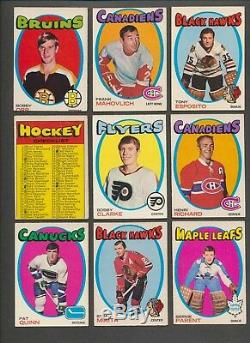 1971-72 OPC Hockey Complete Set (264) Dryden, Dionne, Lafleur RC's