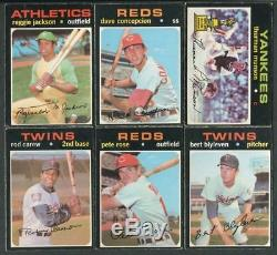 1971 O PEE CHEE BASEBALL OPC COMPLETE Low Series SET 1-523 WithBinder