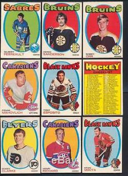 1971 O-Pee-Chee Hockey EX average mid grade complete set of 264 cards 40206