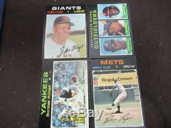 1971 Topps Complete Set Munson #5 Mays #600 Ryan #513 Baker/baylor Rc #709 Vl671