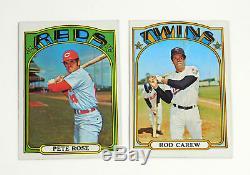 1972 Topps Baseball Complete Set (1-787) Fisk Ryan Carew Avg Nm