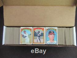 1972 Topps Baseball Near Complete Set 786/787 Hank Aaron Nolan Ryan #595 Vl782