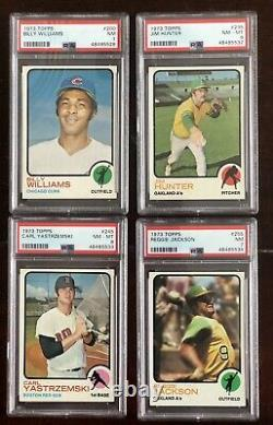 1973 TOPPS BASEBALL HIGH GRADE COMPLETE SET With19 PSA CARDS NM-NM/MT CONDITION