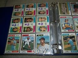 1974 Topps + 1974 Traded Complete Baseball Card Sets In Album/pages Vgex-exmt