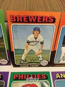 1975 Topps Baseball Card Complete Set Robin Yount George Brett VG-EX