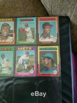1975 Topps Baseball Complete Set High Grade Brett, Yount, NRMT Mint
