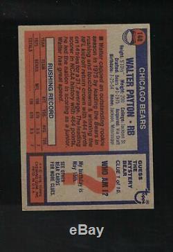 1976 Topps Football Complete Set Payton Rookie