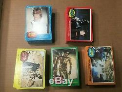 1977 Star Wars 1-5 Complete Card Sets (330)- Great