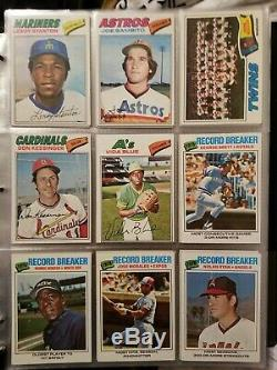 1977 Topps Baseball Complete 660 Card Set in Binder Mid-grade Set, Lots of Stars