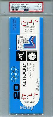 1980 U. S. Olympic Hockey Miracle On Ice Ticket Set (PSA) 9 Complete Tickets