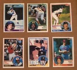 1981 1982 1983 Topps Baseball Complete Set Lot Nolan Ryan Gwynn Boggs Nrmt-Mt +