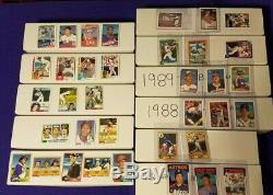 1981-1991 Topps Baseball Complete 792-card Sets Nearmint-nearmint-mint