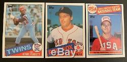 1983 & 1985 Topps Complete Topps Baseball Card Sets In Binders 1-792 Nm Mint