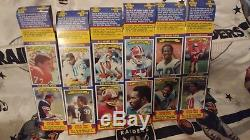 1983 Topps Football Album Sticker Boxes Case With 2 Complete Box Card Sets RARE