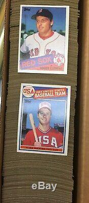 1984 1985 1986 1986TT Topps Baseball Complete 792 Card Sets Bonds Clemens Rc MT