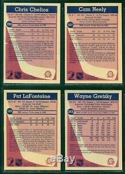 1984 85 Opc Hockey Card Complete Set 1-396 Near Mint