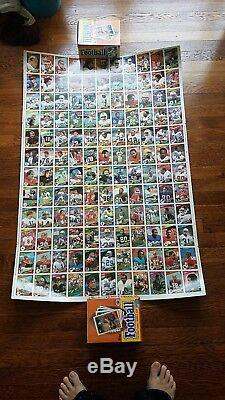 1984 Topps Football Complete Set 3 Uncut Sheets RARE! Elway, Marino RC