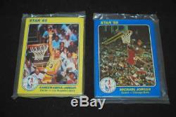 1985 Star Complete Sealed 5x7 Basketball Set Michael Jordan Abdul Jabbar Set072