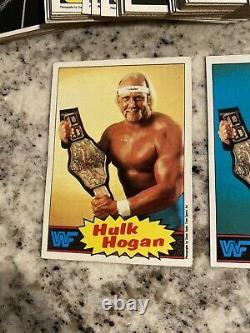 1985 Topps Wwe Wwf Wrestling Complete 1-66 Card Set Mint Hulk Hogan Rc