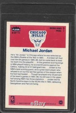 1986 86 Fleer Complete 143 Set (132 + 11 Stickers) Bgs Authentic Michael Jordan