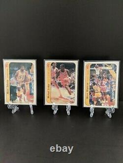 1986-87 Fleer Basketball Complete Sticker Set Complete (11/11) withMichael Jordan