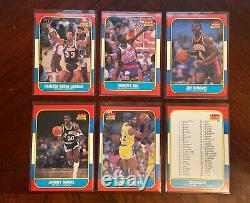 1986 Fleer Basketball Near Complete Set (no Jordan) Jabbar, Worthy 110/132