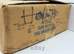 1986 Fleer Update Complete Factory Case of 50 Baseball Card Sets Barry Bonds RC