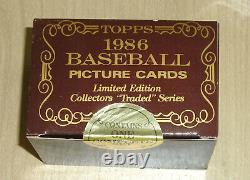 1986 Topps Traded TIFFANY baseball complete set Barry Bonds box flap never open
