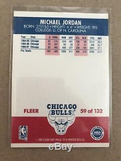 1987-88 Fleer Basketball Complete Set (132) & Stickers (11) NM-MT. JORDAN
