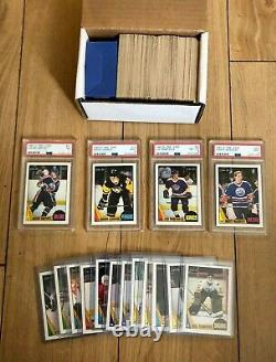 1987-88 O-Pee-Chee Hockey Complete Set 1-264, With 4 PSA graded cards