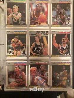 1987-88 fleer basketball complete card set 1-132 Jordan Barkley Akeem Rc Qty Avb